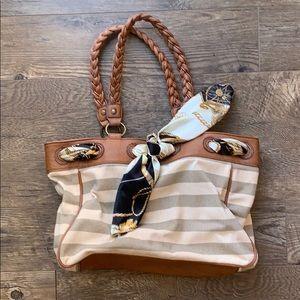Aldo Cream and Tan Handbag